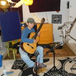 """Recording guitar for """"Sanctuary"""" and """"God's love is enough"""""""